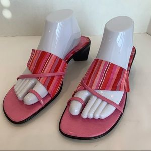 ITALIAN SHOEMAKERS size 11 pink sandal with trim